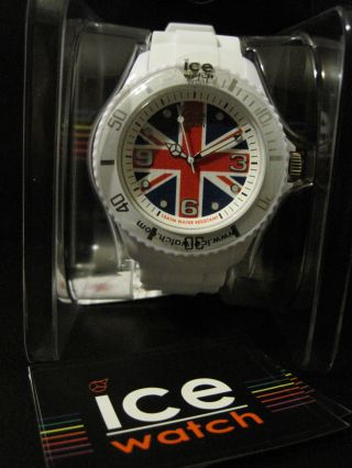 Ice Watch Quarzuhr Ice - World Uk England Big Silikonarmband Bild