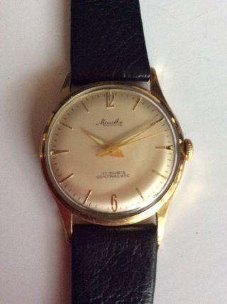 Mauthe 17 Rubis Contrachoc Armbanduhr Bild