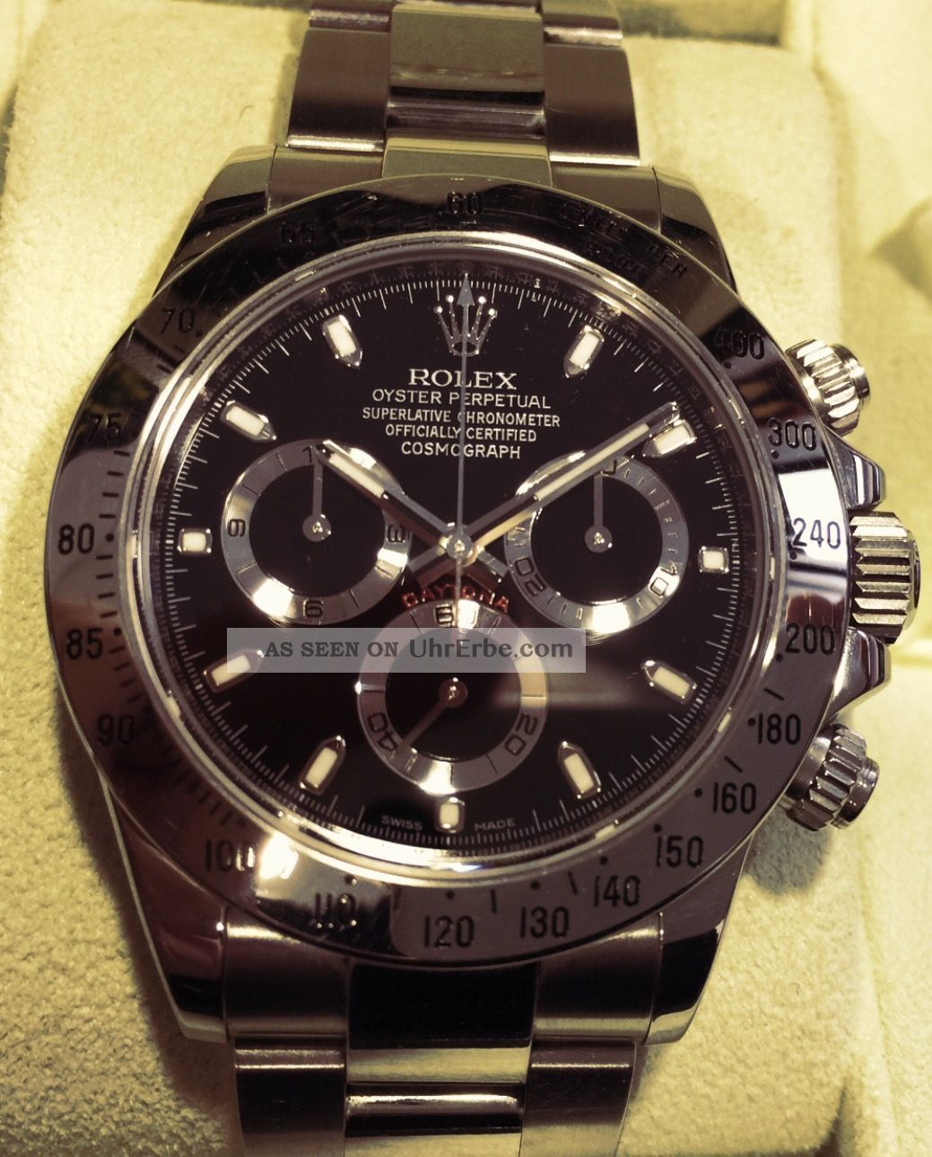 rolex oyster perpetual cosmograph daytona armbanduhr f r. Black Bedroom Furniture Sets. Home Design Ideas