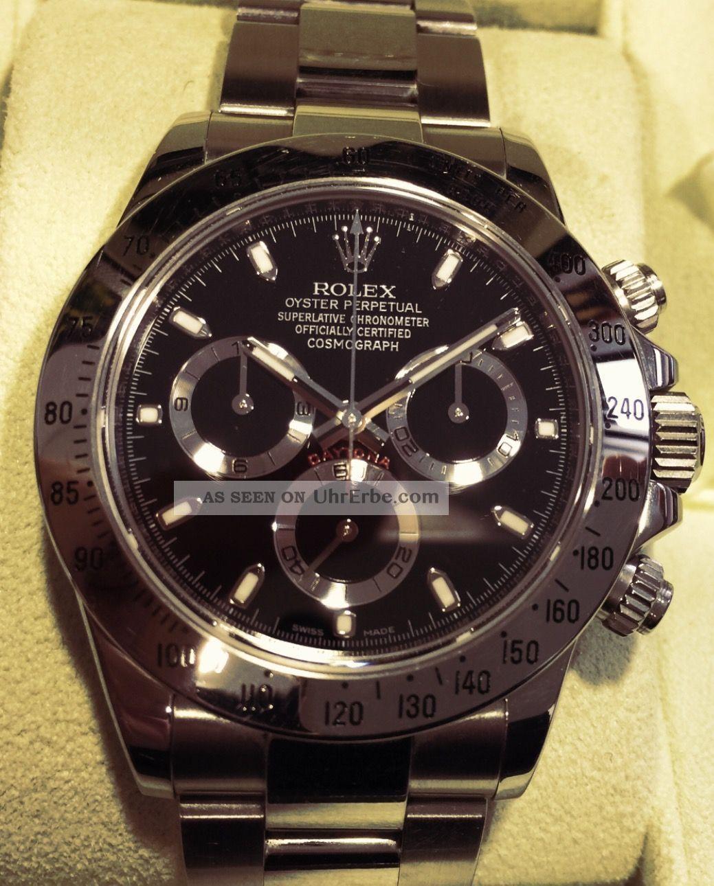 Rolex Oyster Perpetual Cosmograph Daytona Armbanduhr Für Herren (116520) 02/2012 Armbanduhren Bild