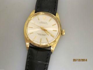 Vintage Rolex Oyster Perpetual Chronometer In 18k Gold 36mm Uhrmachermeister Bild