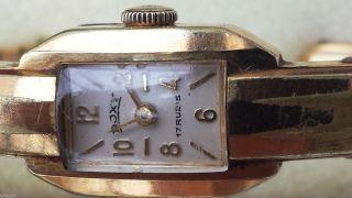 Roxy Ladies Wristwatch,  Art Deko,  Spangenuhr Goldplated 17 Rubins Bild