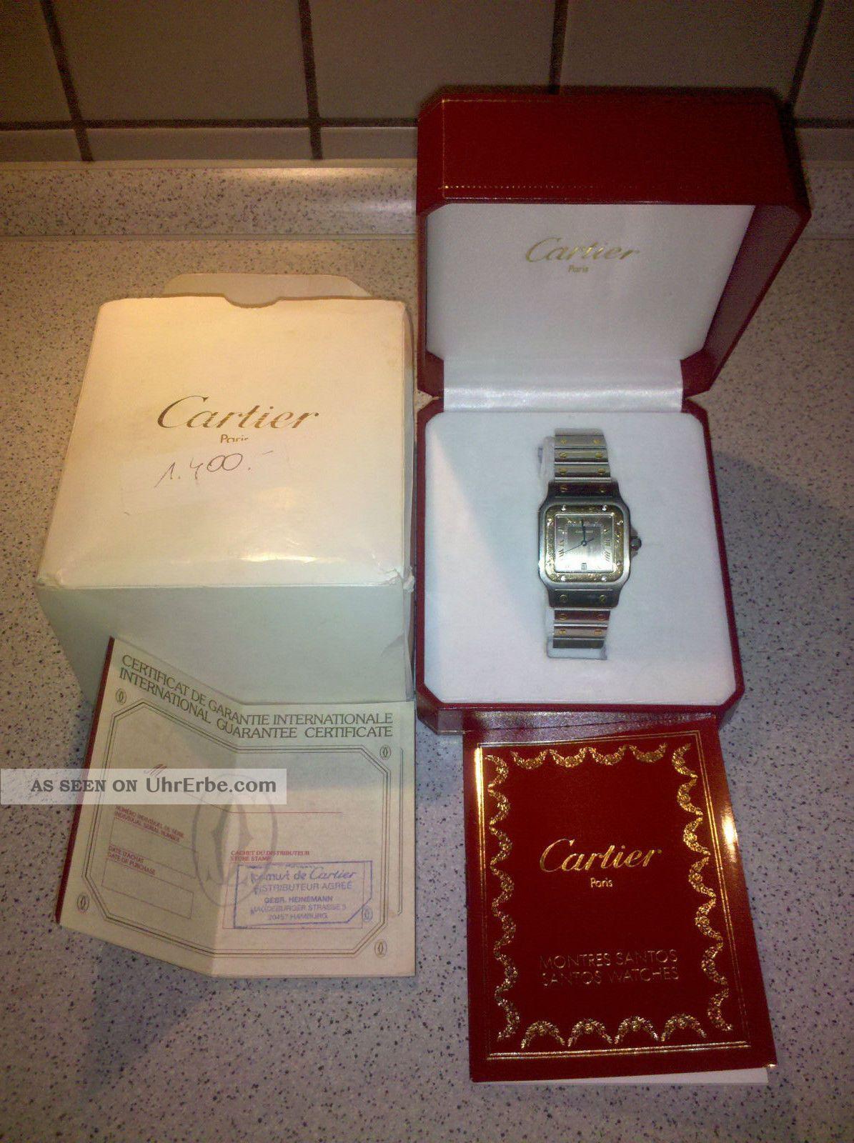 Cartier Santos Stahl Mit Goldauflage Armbanduhren Bild