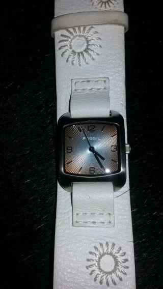 Fossil Armbanduhr Damen Weiß Bild