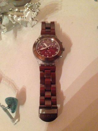 Swatch Irony Full - Blooded Earth Armbanduhr Für Unisex (svck4042ag) Bild
