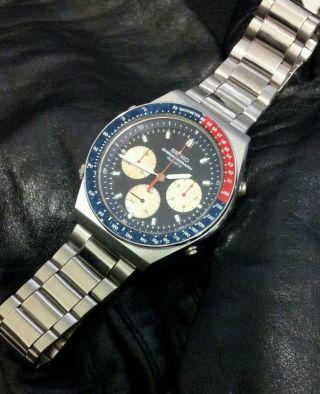 Seiko 7a28 - 7100 Pepsi Speedmaster Quartz Chronograph Bild