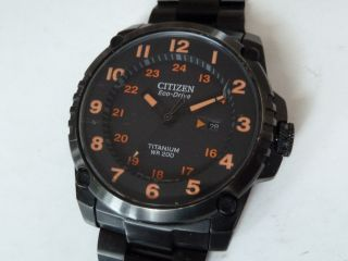 Big Black Edition Titanium Citizen Eco Drive / Solar Analoguhr Bild