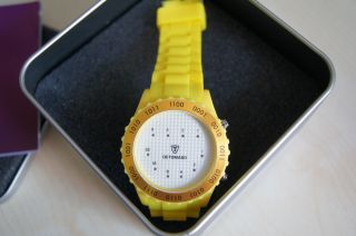 Detomaso Dt2016 - R Colorato Spacy Timeline 4 Unisexuhr Binäruhr Gelb Bild