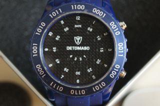 Detomaso Dt2015 - C Spacy Timeline Unisexuhr Herrenuhr Binäruhr Blau Bild