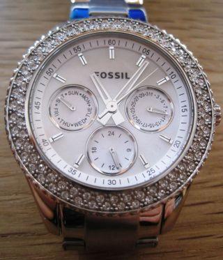 Fossil Stella Es 2860 Armbanduhr Für Damen Bild