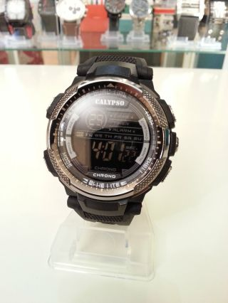 Calypso K5603 By Festina,  47mm,  Sport - Uhr,  Datum,  Alarm,  Stoppuhr,  Sehr Gut Bild