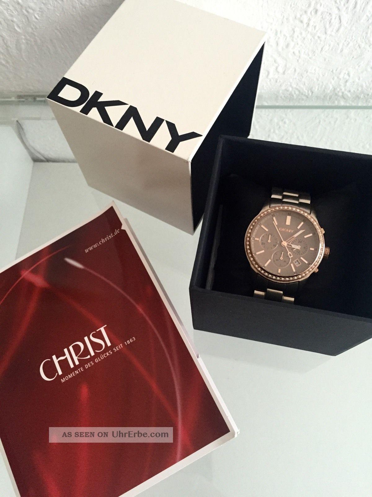 Dkny Damen Uhr Chronograph Ny8324 Braun Zirkonia Armbanduhren Bild