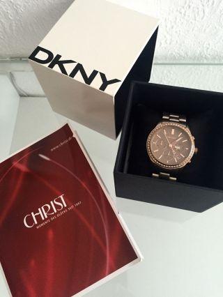 Dkny Damen Uhr Chronograph Ny8324 Braun Zirkonia Bild