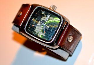 Diesel Uhr Weltkarte Dz 2007 Türkis/grün Sammlerwert Edelstahl,  Datum,  Watch Bild