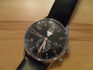 Edle Uhr Von Junkers,  G38 69405,  Leder,  Rosegoldene Details,  Unisex,  Np 199€, Bild