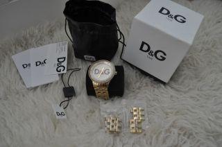 D&g Time Dolce & Gabbana Damen Herren Unisex Uhr Gold Inkl.  Originalverpackung Bild