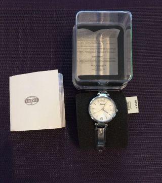 Fossil Damenuhr Es3083 Georgia Silber Mit Etikett Und Ovp: Np:99,  00€ Bild