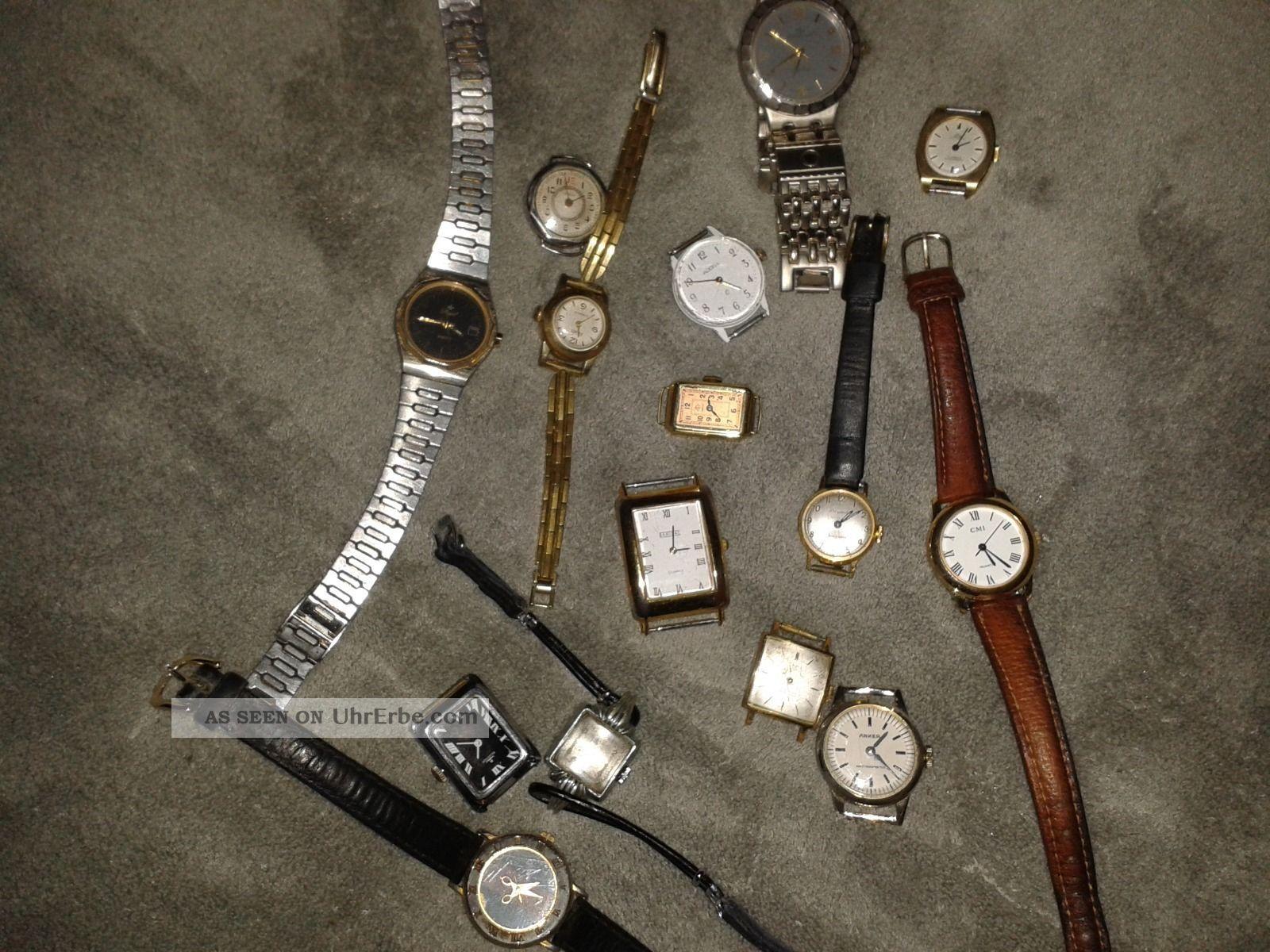 Vintage Uhren Konvolut Dugena Aristo Anker Osco Armbanduhren Bild