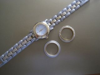 Schicke Da.  - Quarzuhr,  Metall,  3 In 1,  Gliederarmband 19cm, Bild