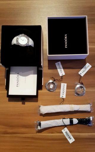Pandora Damen - Armbanduhr / Uhr Imagine 811011wh Mit Viel Zubehör Bild