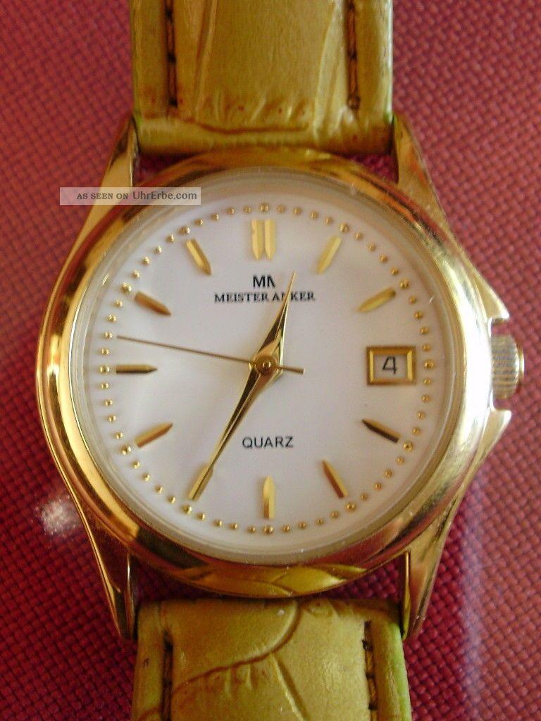 Damen Armbanduhr Meister Anker Mit Datumsanzeige Armbanduhren Bild