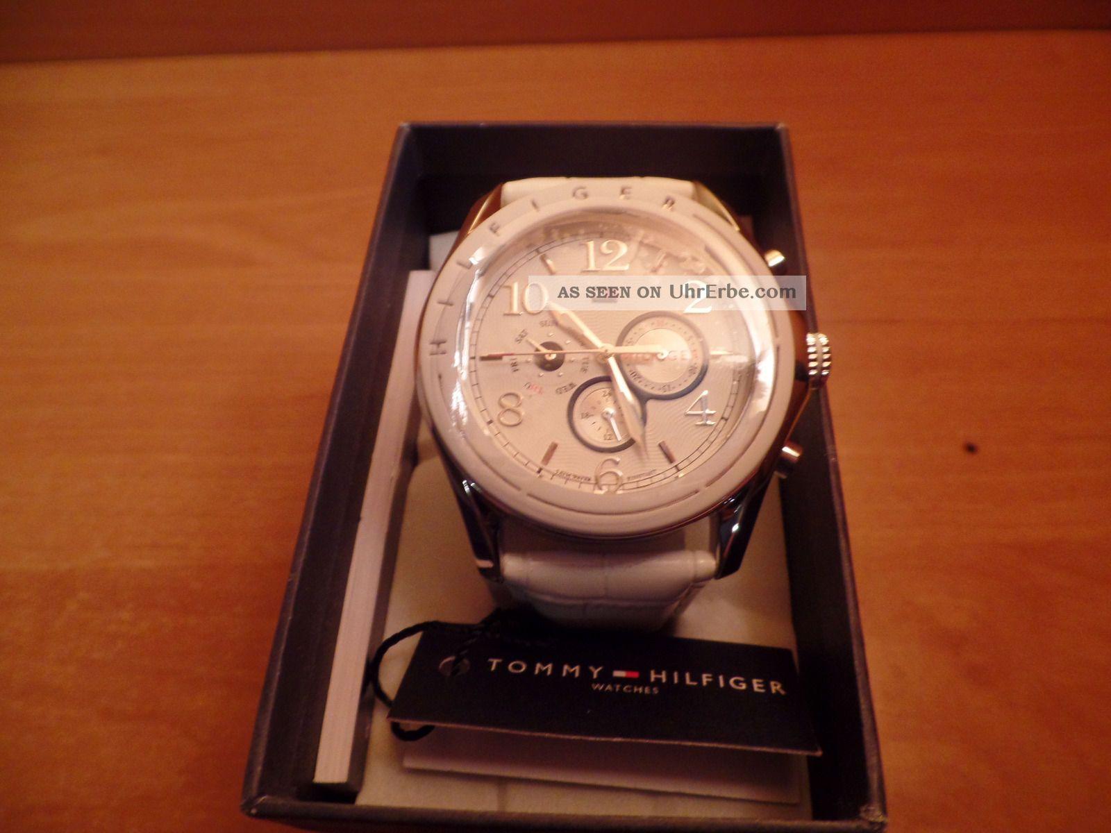 Tommy Hilfiger Lederband Weiß 1781052 Armbanduhren Bild