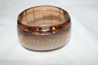 Led Damenuhr Armbanduhr Uhr Plastik Braun Digital Leuchtuhr Armreif Armband Bild