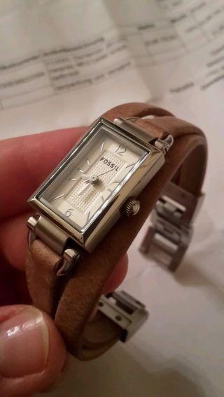 Fossil Uhr Echtleder Für Damen,  Hellbraun,  Neuwertig Jr1370 Vintage Bild