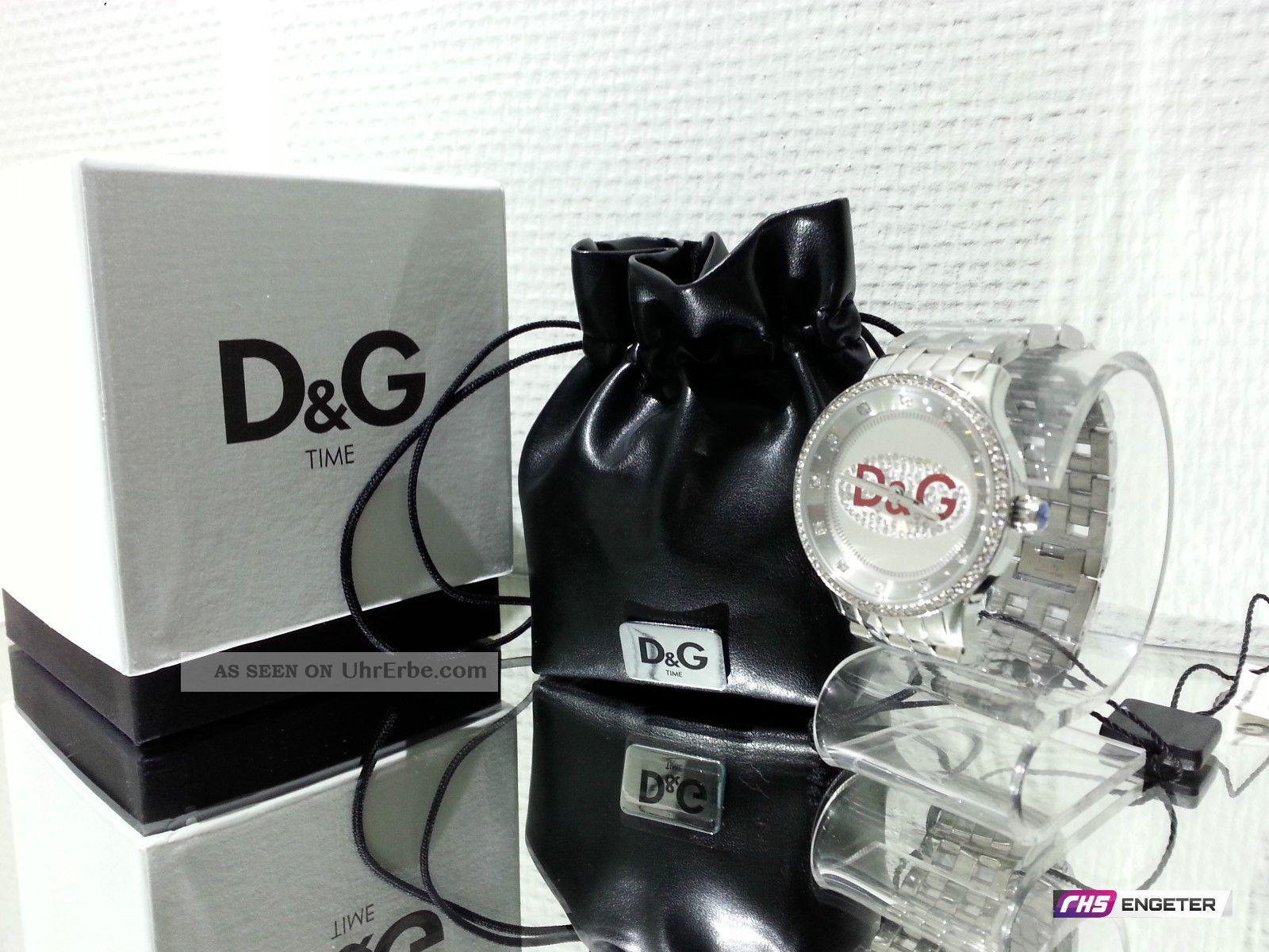 D&g Dolce Gabbana Damen Uhr Silber Edelstahl Armbanduhr Prime Time Watch Dw0144 Armbanduhren Bild