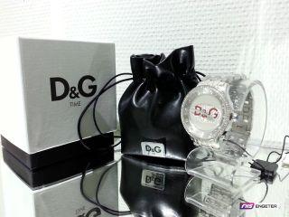 D&g Dolce Gabbana Damen Uhr Silber Edelstahl Armbanduhr Prime Time Watch Dw0144 Bild