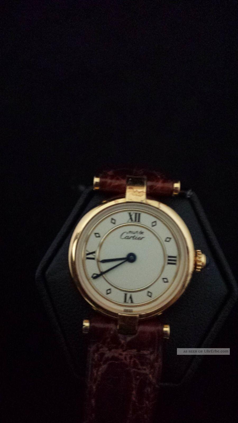 Cartier Lady Must De Vermeil / Argent Uhr.  Note 1, , Armbanduhren Bild