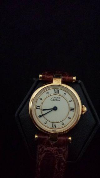 Cartier Lady Must De Vermeil / Argent Uhr.  Note 1, , Bild