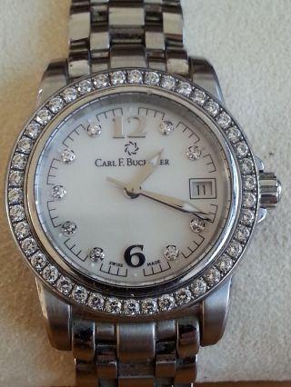 Carl F.  Bucherer Patravi Automatik - Armbanduhr Mit Brilliantbesatz Bild
