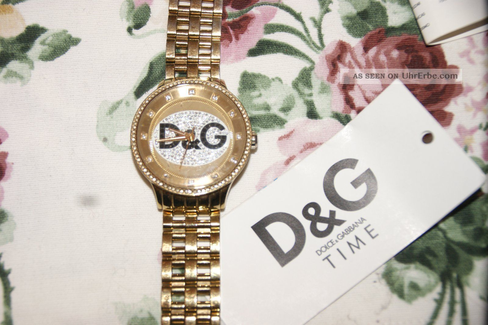 Dolce Gabbana Time Uhr Gold Unisex Blogger Armbanduhren Bild