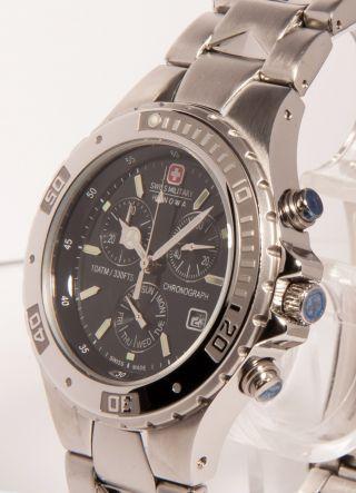 Swiss Military Hanowa Edelstahl Chronograph Chrono Silber 6 - 5115.  04.  007 S2 Bild