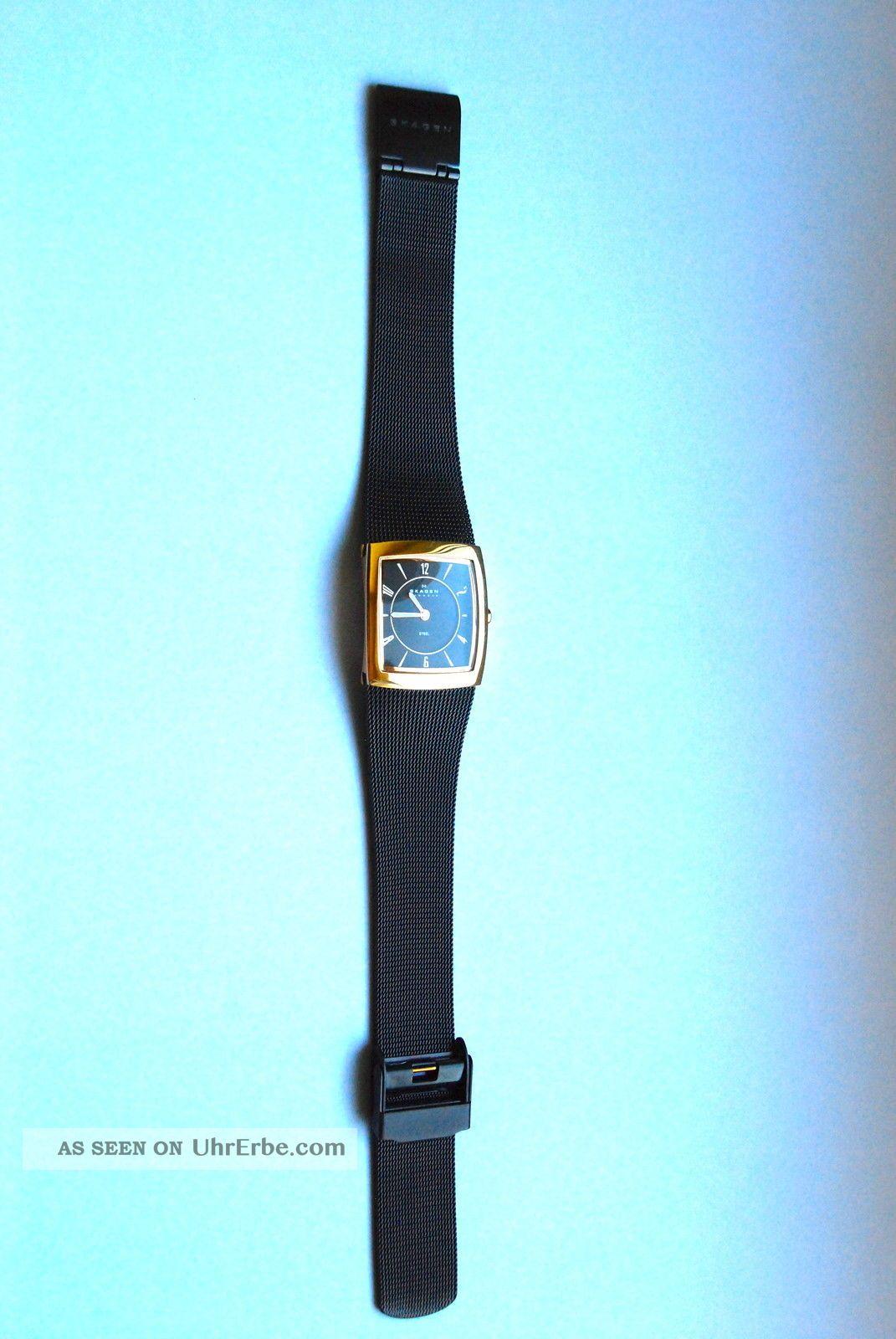 Top Aktuelle Damenuhr Von Skagen,  Metallarmband,  Gehäuse Eckig,  Mit Armbanduhren Bild