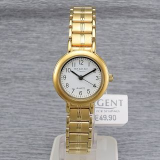 Damenuhr Regent 78503999 Quarz Damenarmbanduhr Quarzuhr Vergoldet Bild