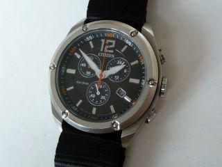 Black Edition Citizen Solar Eco - Drive Chronograph Bild