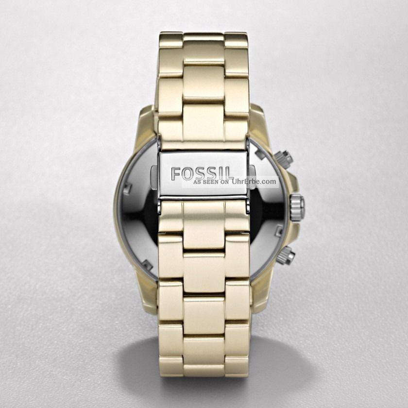 fossil gold chronograph uhr ch2708 aluminium damen chrono. Black Bedroom Furniture Sets. Home Design Ideas