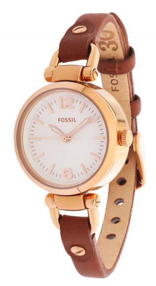 Fossil Damen Armbanduhr Georgia Braun/rotgold Es3564 Bild