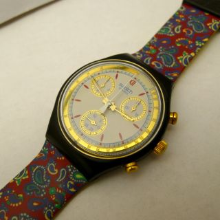 Swatch Chronograph Sammleruhr Von 1991 Mit Neuer Marken Batterie Bild