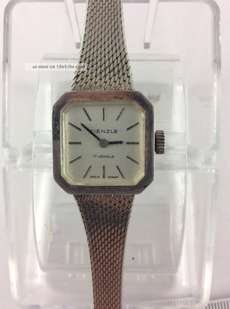 Kienzle Versilberte Damenuhr Handaufzug Klasse Lauf Armbanduhren Bild