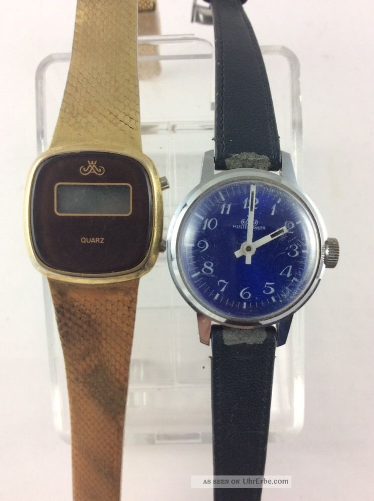 Meister Anker 2 X Seltene Damenuhren Quartz & Analog Anschauen Lohnt Armbanduhren Bild