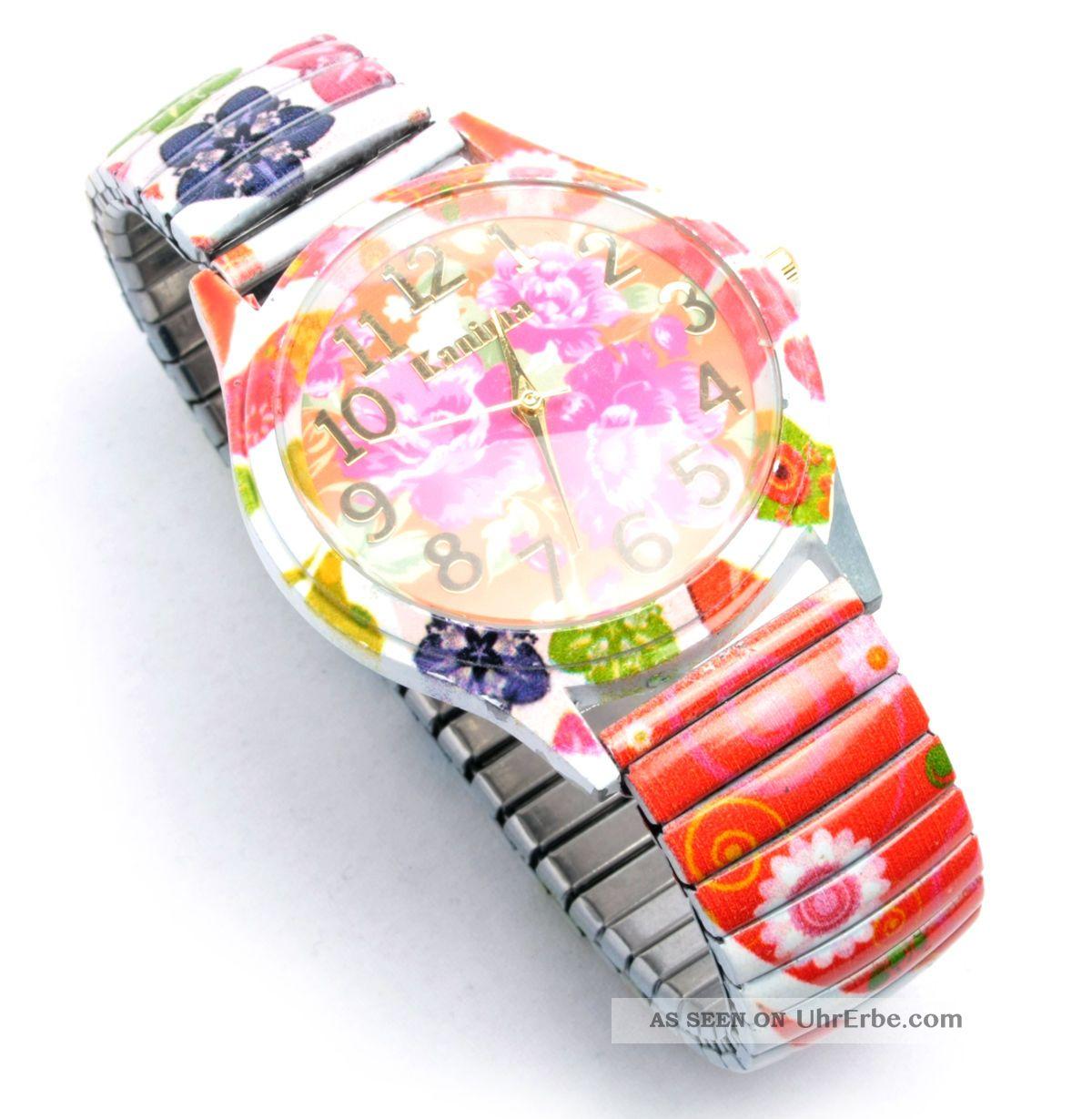 Armbanduhr damen bunt