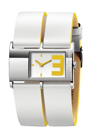 Bruno Banani Damenuhr Calix Silber/gelb Lederband Ts0 167 306 Bild