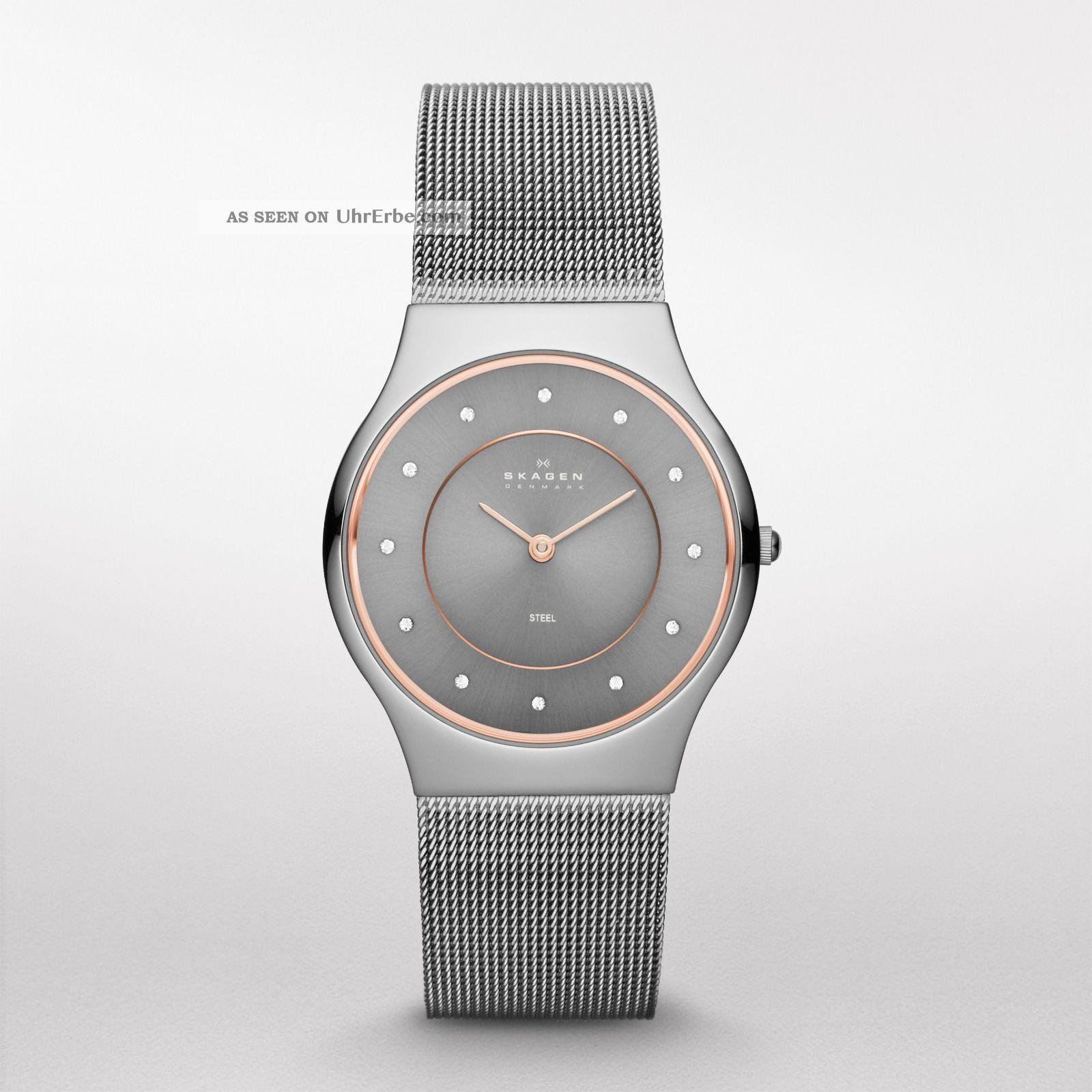 Skagen Designs Damen - Armbanduhr Skw 2081 - Edelstahlarmband - Armbanduhren Bild
