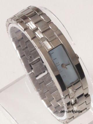 Esprit Damenuhr / Damen Uhr Starline Silber Blau Houston Strass Es900502004 Bild