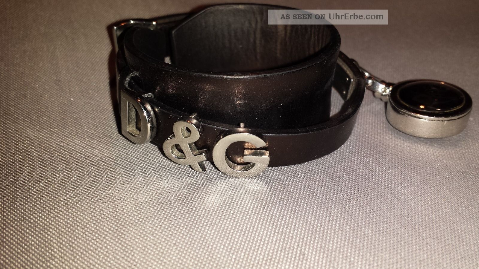 D&g Dolce&gabbana Armband Leder Stahl Mit Kleiner Uhr Armbanduhren Bild