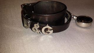 D&g Dolce&gabbana Armband Leder Stahl Mit Kleiner Uhr Bild