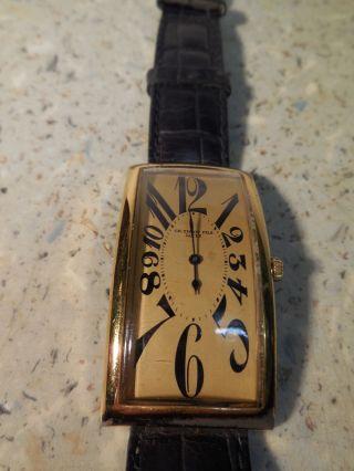 Tissot Damen - Armbanduhr,  Getragen,  Viereckig,  Läuft,  Mit Warzem Lederband Bild